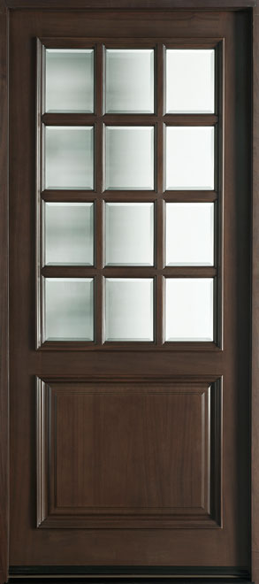 Classic Series Mahogany Wood Entry Door - Single - DB-012W