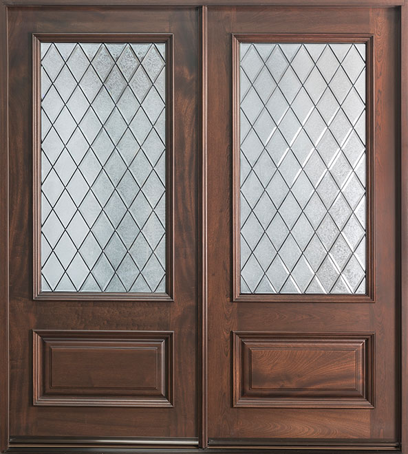 Classic Series Mahogany Wood Entry Door - Double - DB-101S DD