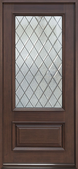 Classic Series Mahogany Wood Entry Door - Single - DB-101DG