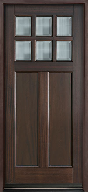 Classic Mahogany Wood Entry Door - Single - DB-112PS