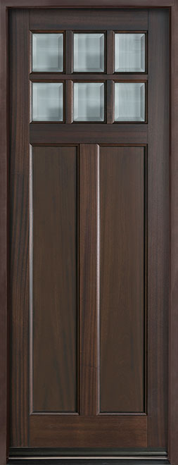 Classic Series Mahogany Wood Entry Door - Single - DB-112PT