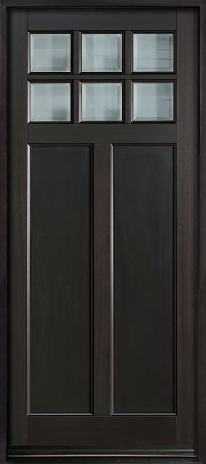 Classic Series Mahogany Wood Entry Door - Single - DB-112PW