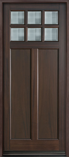 Classic Mahogany Wood Entry Door - Single - DB-112PW