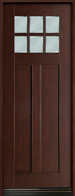 Classic Mahogany Wood Front Door - Single - DB-112T CST