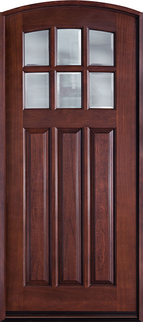 French Mahogany Wood Front Door - Single - DB-112WA CST