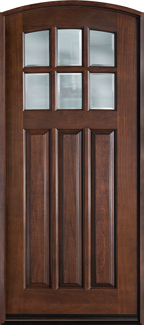 French Mahogany Wood Entry Door - Single - DB-112WA