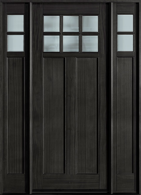 Classic Mahogany Wood Front Door - Single with 2 Sidelites - DB-112W 2SL CST