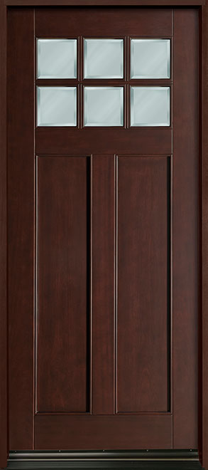 Classic Mahogany Wood Front Door - Single - DB-112W CST