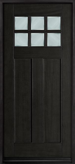 Classic Mahogany Wood Entry Door - Single - DB-112