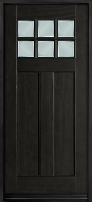 Craftsman Series Mahogany Wood Entry Door - Single - DB-112