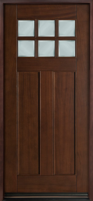 Classic Series Mahogany Wood Entry Door - Single - DB-112