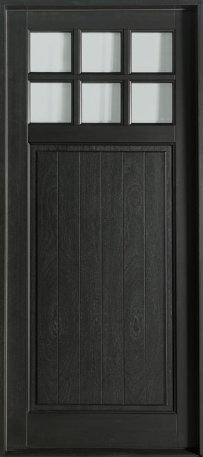 Classic Series Mahogany Wood Entry Door - Single - DB-113PW
