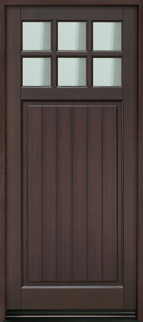 Classic Series Mahogany Wood Entry Door - Single - DB-113PW-A