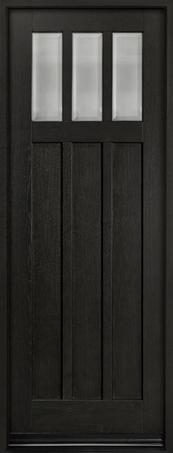 Classic Series Mahogany Wood Entry Door - Single - DB-114PT