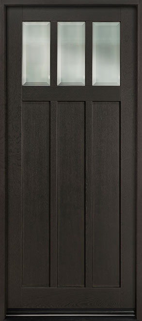 Classic Series Mahogany Wood Entry Door - Single - DB-114PW