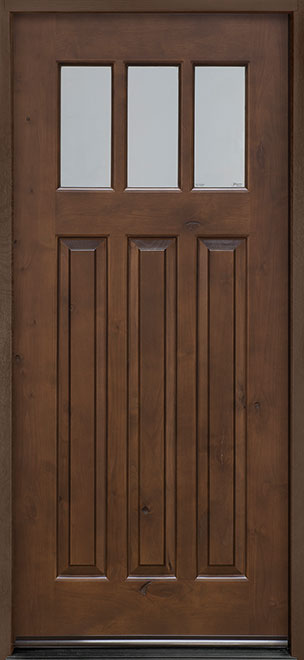 Classic Series Knotty Alder Wood Entry Door - Single - DB-115