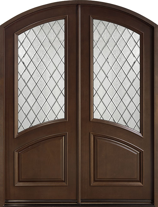Classic Series Mahogany Wood Entry Door - Double - DB-155 DD