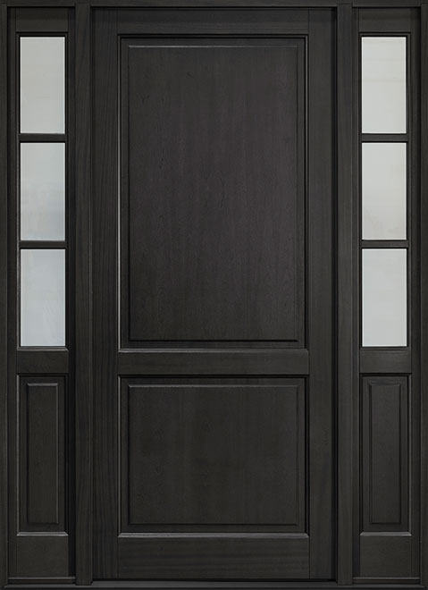 Classic Series Mahogany Wood Entry Door - Single with 2 Sidelites - DB-202PW 2SL