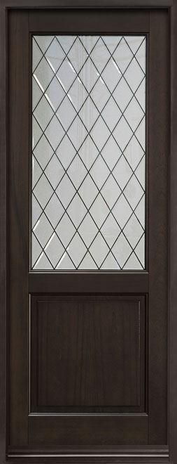 Classic Series Mahogany Wood Entry Door - Single - DB-203PTDG