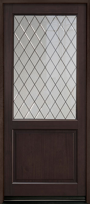 Classic Series Mahogany Wood Entry Door - Single - DB-203PWDG