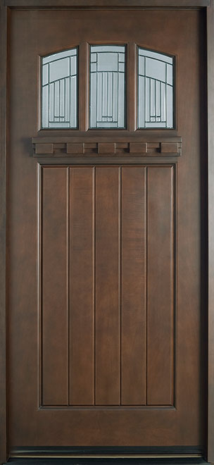 Craftsman Series Mahogany Wood Entry Door - Single - DB-211S