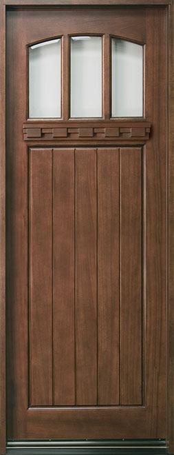 Craftsman Series Mahogany Wood Entry Door - Single - DB-211T