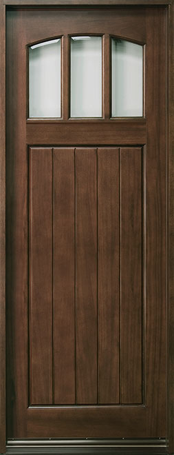 Craftsman Series Mahogany Wood Entry Door - Single - DB-211T