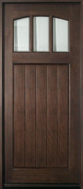 Craftsman Series Mahogany Wood Entry Door - Single - DB-211W