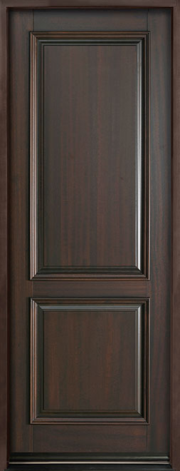 Classic Series Mahogany Wood Entry Door - Single - DB-301PT