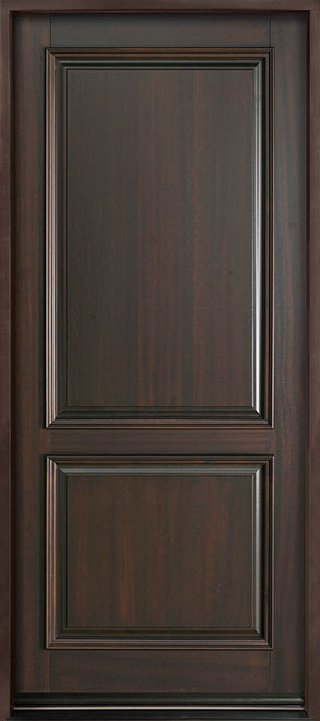 Classic Series Mahogany Wood Entry Door - Single - DB-301PW