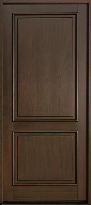 Classic Series Mahogany Wood Entry Door - Single - DB-302PW