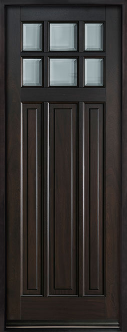 Classic Series Mahogany Wood Entry Door - Single - DB-311PT