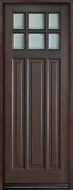 Classic Series Mahogany Wood Entry Door - Single - DB-311PT