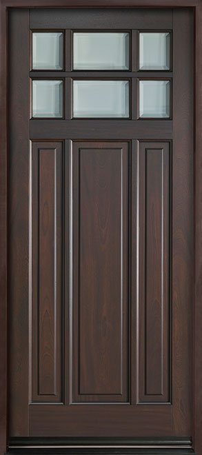 Classic Series Mahogany Wood Entry Door - Single - DB-311PW