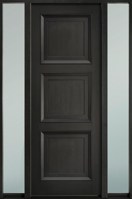 Classic Series Mahogany Wood Entry Door - Single with 2 Sidelites - DB-314PT 2SL-F