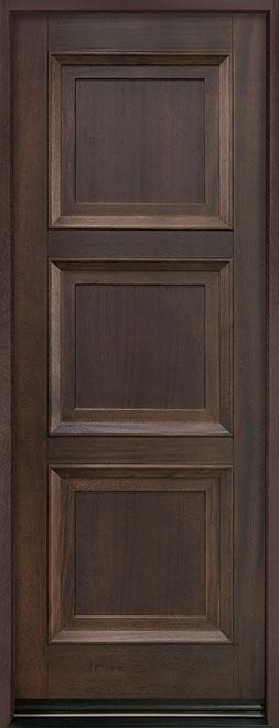 Classic Mahogany Wood Entry Door - Single - DB-314PT