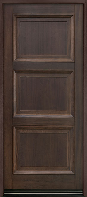 Classic Mahogany Wood Entry Door - Single - DB-314PW
