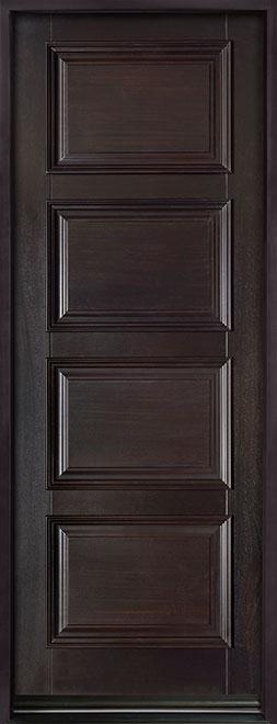 Classic Series Mahogany Wood Entry Door - Single - DB-4000PT