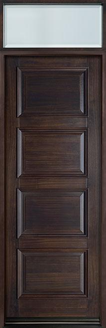 Classic Series Mahogany Wood Entry Door - Single - DB-4000PT TR-EN1