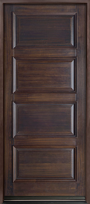 Classic Series Mahogany Wood Entry Door - Single - DB-4000PW
