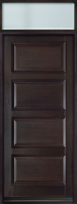 Classic Mahogany Wood Entry Door - Single - DB-4000PW TR-EN2