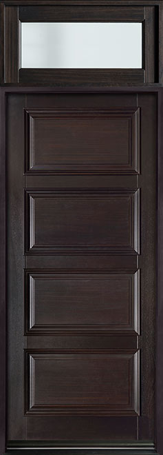Classic Series Mahogany Wood Entry Door - Single - DB-4000PW TR-EN4