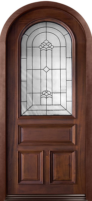 Classic Series Mahogany Wood Entry Door - Single - DB-495W