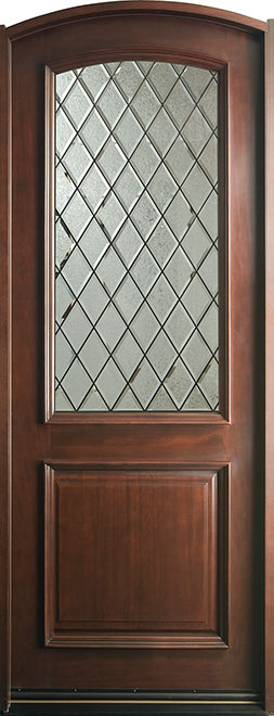 French Mahogany Wood Front Door - Single - DB-552DG CST
