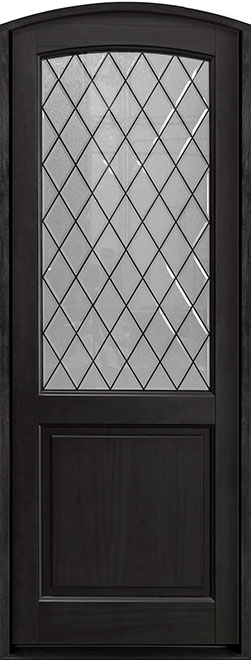 Classic Series Mahogany Wood Entry Door - Single - DB-552PTDG