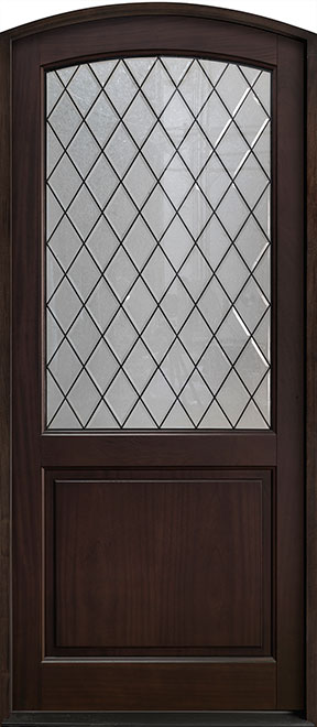 Classic Series Mahogany Wood Entry Door - Single - DB-552PWDG