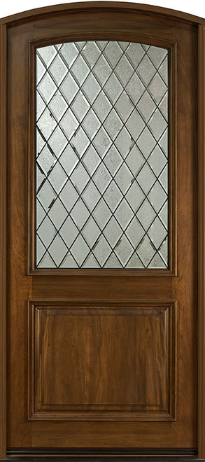 French Cherry Wood Front Door - Single - DB-552WDG CST