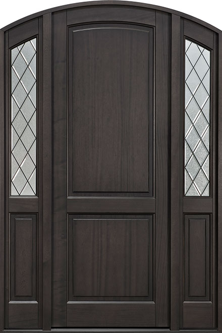 Classic Series Mahogany Wood Entry Door - Single with 2 Sidelites - DB-554PTDG 2SL