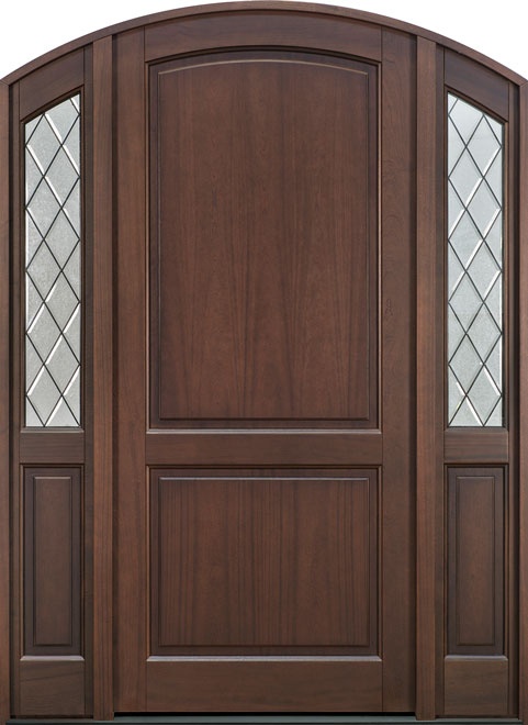 Classic Series Mahogany Wood Entry Door - Single with 2 Sidelites - DB-554PWDG 2SL