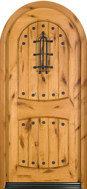 Rustic Series Knotty Alder Wood Entry Door - Single - DB-595W